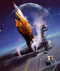 Official website of John Harris: landscape, science fiction and marine artist Concept Ships, Concept Art, Sci Fi Kunst, Science Fiction Kunst, 70s Sci Fi Art, Beyond The Horizon, Arte Tribal, Futuristic City, Star Wars