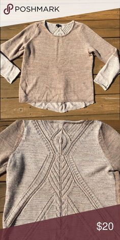 XL The Limited Sweater Perfect condition. See second pic for the back, which is super cute! I ship same day! The Limited Sweaters Crew & Scoop Necks
