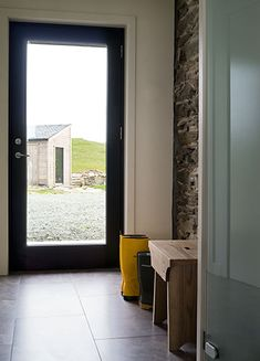 I would love to ditch the sliding back door and replace with a door-sized window on the left and a glass door on the right.