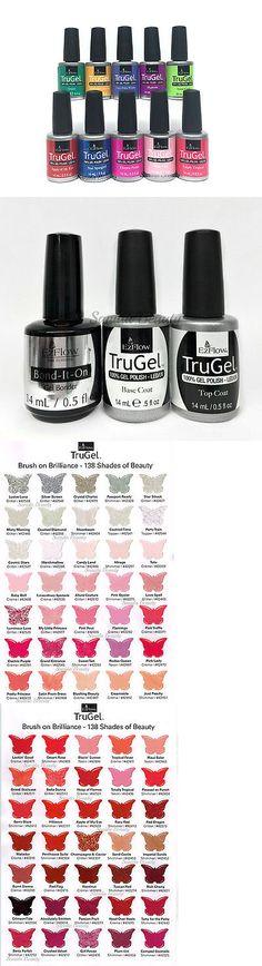 Nails: Ezflow Nail Trugel- Set Of 10 Bottles-Choose Any Color Bond-It-On Base Top 0.5Oz -> BUY IT NOW ONLY: $71.99 on eBay!