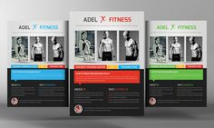 Fitness Flyer Template by Business Templates on @creativemarket