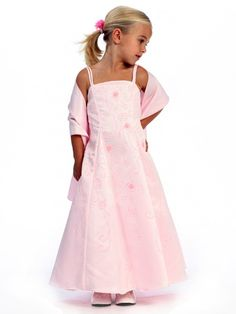 Pink Flower Girl Dress - Matte Satin A-Line Style: D220 💟$142.99 from http://www.www.paraprinting.com   #wedding #style: #flower #girl #satin #matte #dress #weddingdress #mywedding #aline #bridal #pink #bridalgown