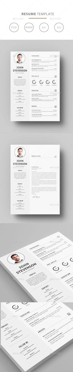 Landscape Resume Ai illustrator, Resume cv and Design resume - landscape resume