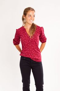 Carve  Newport Long Sleeve Top (Fall 2013) - Womens Lightning Bolt, Fall 2015, Newport, Long Sleeve Tops, Carving, Red, Shirts, Color, Collection