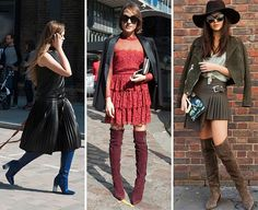 London_fashion_week_spring_2016_street_style The burgundy, the green, the Thigh High Boots 💕