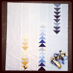 My quilt top and a scrappy binding for the Modern Quilt Guild challenge #mqg #madronaroad #slmqg
