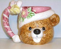 Christmas Bear Ceramic Mug decorative . Build A Bear, Christmas Mugs, Mug Cup, Cups, Teddy Bear, Ceramics, Holiday, House, Collection