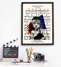 Victor Hugo Les Misérables Print, I Dreamed a Dream Music Sheet, Cosette, Book Lover Gift by demeraki on Etsy