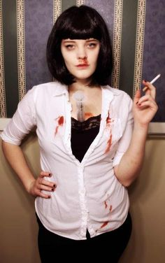 Mia Wallace from Pulp Fiction is listed (or ranked) 18 on the list Last Minute D. - Mia Wallace from Pulp Fiction is listed (or ranked) 18 on the list Last Minute DIY Halloween Costume - Cool Girl Costumes, Diy Costumes, Adult Costumes, Costume Ideas, Cosplay Ideas, Zombie Costumes, Homemade Costumes, Family Costumes, Costume Contest