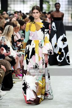 Kaia Gerber walks the runway during the Valentino show as part of the Paris Fashion Week Womenswear Fall/Winter 2018/2019 on March 4, 2018 in Paris, France.  (Photo by Dominique Charriau/WireImage)
