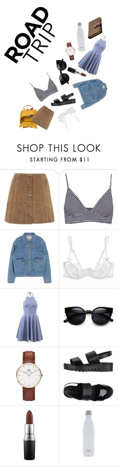 """""""That One Summer"""" by pashfofash ❤ liked on Polyvore featuring Fjällräven, Topshop, Pull&Bear, Agent Provocateur, Michael Kors, Daniel Wellington, Jeffrey Campbell, MAC Cosmetics, S'well and Rear View Prints"""
