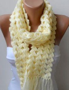 Ideas For Crochet Scarf Long Womens Scarves Crochet Ruffle Scarf, Pull Crochet, Bonnet Crochet, Hand Knit Scarf, Diy Scarf, Loop Scarf, Crochet Scarves, Crochet Clothes, Knit Crochet