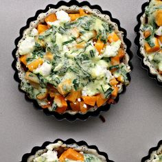 Butternut, Carrot and Goat Cheese Tartlets...the perfect mini tarts for #MothersDay or #easter!