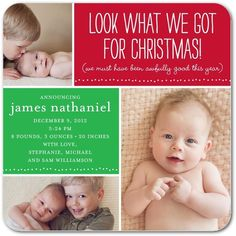 Awfully Good Gift: Leaf - Winter Boy Birth Announcements in Leaf | simplyput by Ashley Woodman