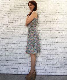 Vintage 90s Floral Side Tie Jumper Dress L Grunge Revival Festival Upcycled Knee Length by PopFizzVintage on Etsy