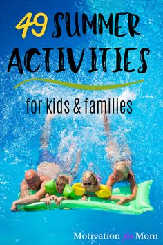 The ultimate list of summer activities for kids and families. This list has summer activities for toddlers, summer activities for teenagers, and summer activities for kids at home. This list summer bucket list ideas will have your family busy with these cheap summer activities for kids. Keep your kids entertained so you don't go crazy during the summer. #summeractivities #summeractivitiesforkids #cheapsummeractivities #freesummeractivities #summeractivityideas