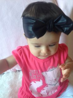 Black Faux Leather Square Topknot Baby Turban Headband by PoshKnotsOnTots on Etsy https://www.etsy.com/listing/231418148/black-faux-leather-square-topknot-baby