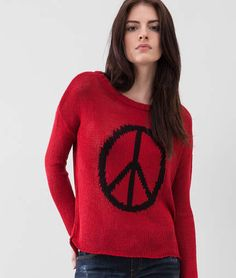 Ellus - Tricot peace and love knit sweater