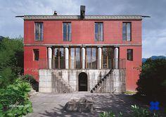 Two houses in Trübbach, Trübbach-Azmoos, St. Gallen, Switzerland, 1982, by Peter Märkli & Gody Kühnis