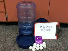 Ping pong rhythms. Love this game idea