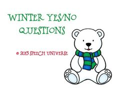 This is a quick little activity to target basic yes/no questions. There are 27 cards with visuals for yes/no written on each card. Autism Activities, Comprehension Activities, Speech Therapy Activities, Speech Language Pathology, Language Activities, Speech And Language, Winter Activities, Early Childhood Activities, Receptive Language