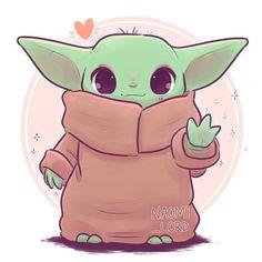 Baby Yoda The Mandalorian Star wars art, Yoda drawing