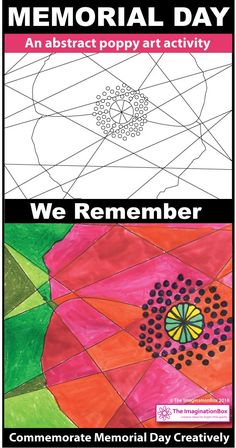 This beautiful Memorial Day poppy and American Flag art activities resource for kids is ideal for using at school as a Memorial Day, Remembrance Day teaching resource for grades 5 and Create Memorial Day art posters for the classroom, make bookmar Memorial Day Activities, Remembrance Day Activities, Remembrance Day Poppy, Craft Activities For Kids, Preschool Art, Holiday Activities, Craft Ideas, Paper Plate Poppy Craft, Memorial Day Poppies