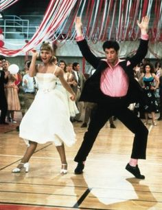 "John Travolta and Olivia Newton John in ""Grease"""
