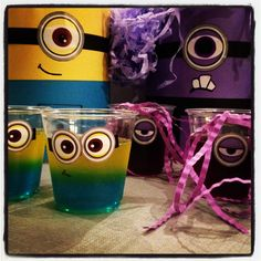 But make them purple evil minions Minions Birthday Theme, Minion Party Theme, Despicable Me Party, 4th Birthday Parties, Birthday Fun, Birthday Ideas, Baby Party, Craft Party, Party Time