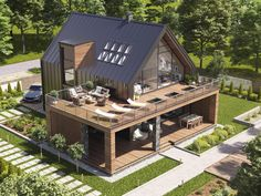 Modern Barn House, Modern House Plans, Cool House Plans, Casas Containers, Minimal House Design, Dream House Exterior, Modern Architecture House, Facade House, House Extensions