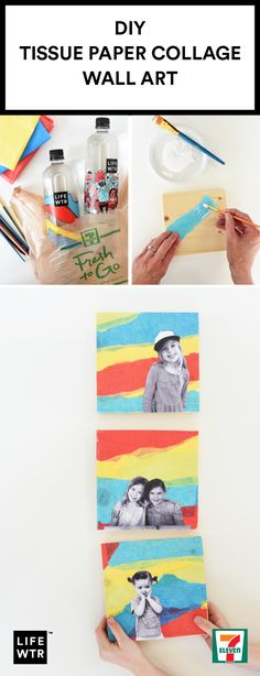 Inspiration can come from anywhere. Take this DIY Tissue Paper Collage Wall Art for instance. Taking notes from the vivid hues of LIFEWTR brand Series 4 bottles at 7-Eleven, kid-friendly activities and refreshing design come together seamlessly. LIFEWTR believes inspiration is as essential to life as water so head over to 7-Eleven to pick up your new source of creative motivation. Who knows what project it will fuel!