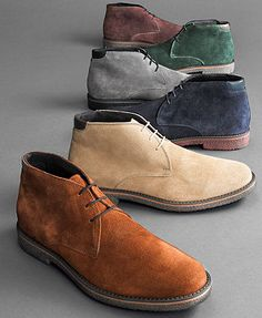 Alfani Boots Lancer Suede Chukka Boots Zapatos Hombre Macy & # s Estilo Mens Shoes Boots, Mens Boots Fashion, Shoe Boots, Women's Boots, Suede Chukka Boots, Suede Boots Men, Mens Chukka Boots, Clarks Boots, Formal Shoes For Men