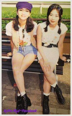 Anita Mui and Skirley Kwan