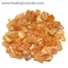 Topaz Crystals - Imperial Topaz Crystal Chips (Brazil)- Imperial Topaz - Healing Crystals