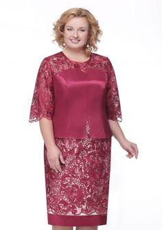 Платье брусничное кружевное - заказать и купить с доставкой в интернет-магазине «L'MARKA»