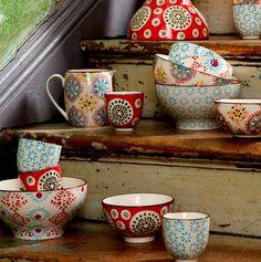 Small Boho Print Bowls