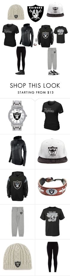 """""""Oakland Raiders"""" by jenabbyreid on Polyvore featuring Game Time, NIKE, JUST DON and GameWear"""
