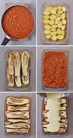 Vegan moussaka with lentils and eggplant! This popular Greek dish can be easily … Vegan moussaka with lentils and eggplant! Easy Healthy Recipes, Gourmet Recipes, Gluten Free Recipes, Cooking Recipes, Healthy Desserts, Meat Recipes, Vegan Moussaka, Eggplant Moussaka, Moussaka Recipe Vegetarian