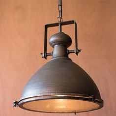Farmhouse kitchen products to get the fixer upper look pinterest kalalou large metal pendant with glass cover an industrial chic way to light up your spaces this large metal pendant light features a distressed metal aloadofball Gallery