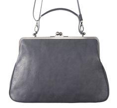 GRACE VOLKER LANG Handtasche Leder mit Bügelverschluss clipbag