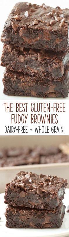Gluten Free Deserts, Gluten Free Brownies, Gluten Free Sweets, Foods With Gluten, Gluten Free Cooking, Dairy Free Recipes, Lactose Free Desserts, Plat Vegan, Dessert Sans Gluten