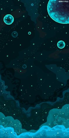 Far away by HeavyPxls on DeviantArt Pixel Art Background, Black Background Wallpaper, Wallpaper Space, Landscape Background, Cute Wallpaper Backgrounds, Wallpaper Iphone Cute, Pretty Wallpapers, Galaxy Wallpaper, Screen Wallpaper