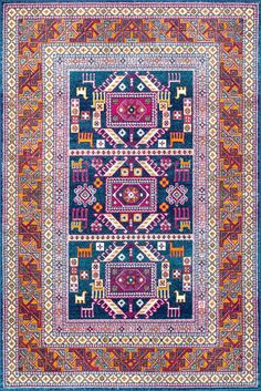 Bosphorus BD48 Tecumseh Tribal Tale Triptych Rug -- this would tie office to GR until we get buildins and a Persian