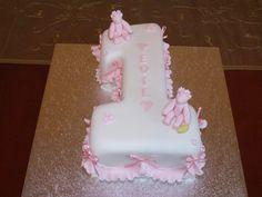 bithday cake | Baby Girl's 1st Birthday Cake — Children's Birthday Cakes