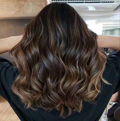 Brown Ombre Hair, Brown Hair Balayage, Balayage Brunette, Brunette Hair, Hair Highlights, Cabelo Ombre Hair, Sombre Hair, Dyed Natural Hair, Dyed Hair