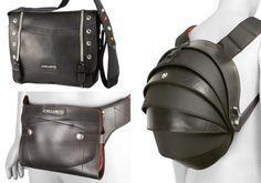 .bolsos y mochilas con neumáticos