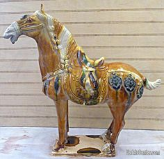 chinese horse | Chinese Porcelain Tang San Cai Horse Statue - San Francisco, Antiques ...