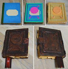 Material: - old book - eva foam - worbla - acrylic paints