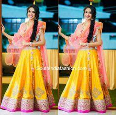 Ritu Varma in Anushree Reddy Lehenga – South India Fashion Indian Bridesmaids, Bridesmaid Outfit, Indian Dresses, Indian Outfits, Indian Clothes, Lehenga Choli Latest, Mehendi Outfits, India Fashion, Women's Fashion