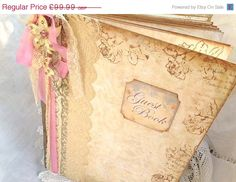 On Sale A4 Wedding Guest Book 60 pages by youruniquescrapbook, £89.99